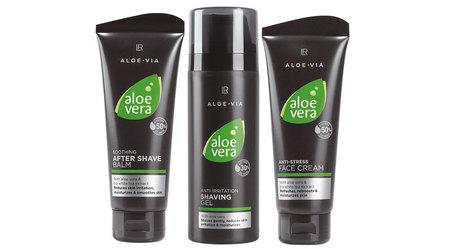 Aloe Vera Zestaw Męska pielęgnacja II (żel do golenia, balsam po goleniu, krem antystresowy) (1)